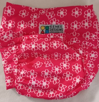 Best compostable nappies in Australia-Pink Eenee reusable pull up to support compostable upad.