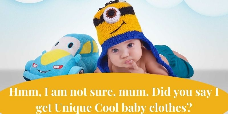 Unique cool baby boy clothes-Baby wearing colorful hat holding finger at lip having a thoughtful face.