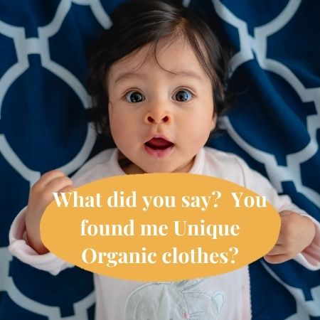 Unique Organic baby clothes-Baby looking excited to find out about unique organic baby clothes.