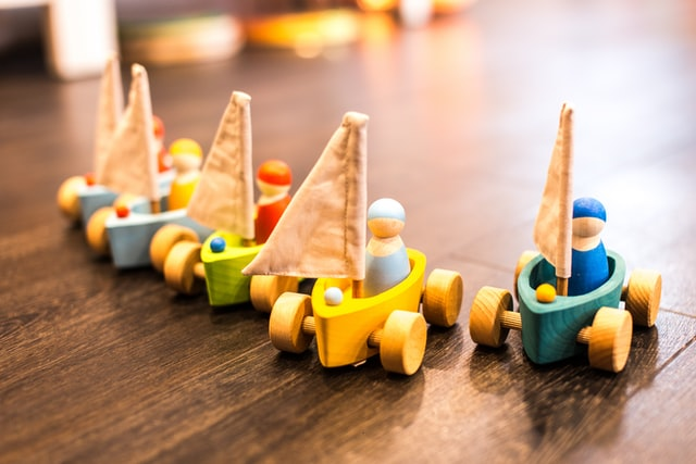 Amazon baby toys-Colorful wooden toys.