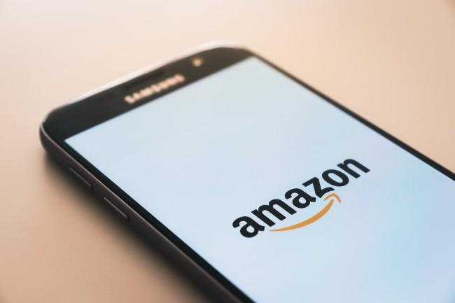 Amazon baby toys-Image phone with the Amazon logo.