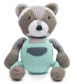 Top Infant Toy-Organic rattle buddy Ramsay the raccoon.