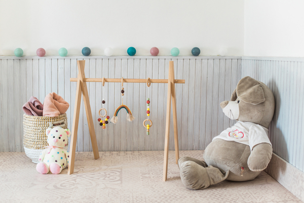 What's a baby Gym?-Trendy wooden play gym.