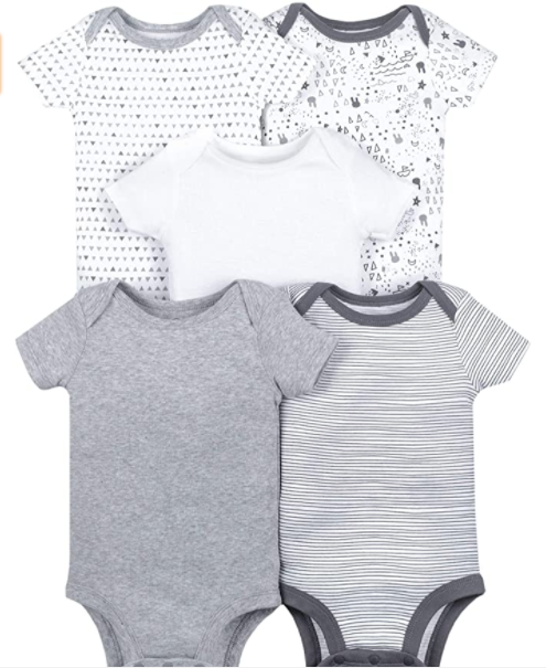 3 Affordable organic baby clothes brands in the U.S-Lamaze organic baby clothes' bundle unisex.