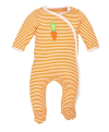 Best Organic cotton baby clothes in the U.S-Under the Nile Egyptian organic cotton Footie.