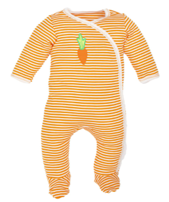 Best organic cotton baby clothes in the U.S-Under the Nile organic footie.