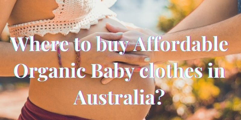 Where to buy Affordable organic baby clothes in Australia?-The hands of a man holding the pregnant belly of a lady.