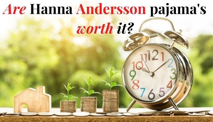 Are Hanna Andersson's Pajamas worth it?-Clock and Piles of coins with little greens sprouts growing out.