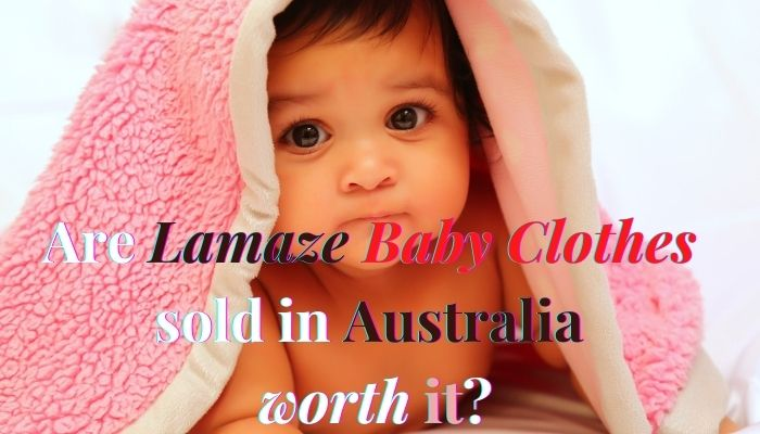 Are Lamaze baby clothes sold in Australia worth it?-Baby underneath Pink blanket.