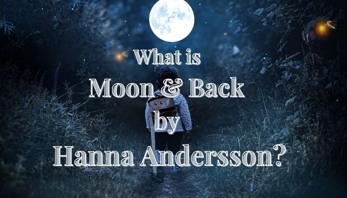 What is Moon and Back by Hanna Andersson?-Child with back pack on a path way staring at the moon.