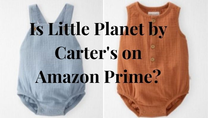 Is Little Planet by Carter's on Amazon Prime?-Little Planet by Carter's organic cotton Gauze sun suit.